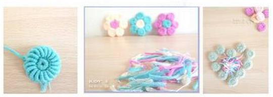 Цветочки крючком для вязания сидушки или коврика (11) (540x193, 190Kb)