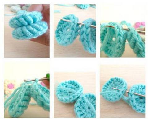 Цветочки крючком для вязания сидушки или коврика (13) (478x387, 361Kb)