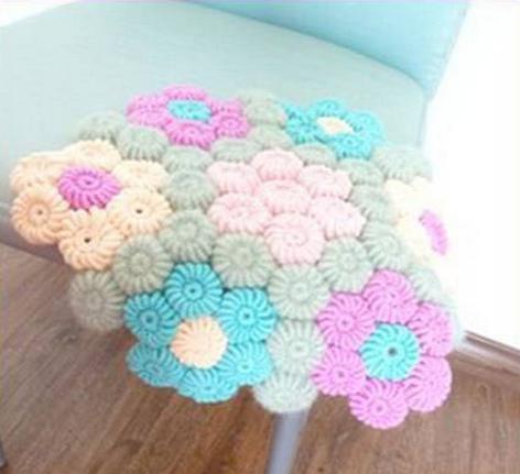 Цветочки крючком для вязания сидушки или коврика (15) (472x431, 391Kb)