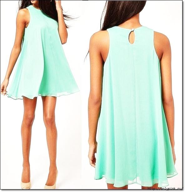 Легкое летнее платье из шифона своими руками