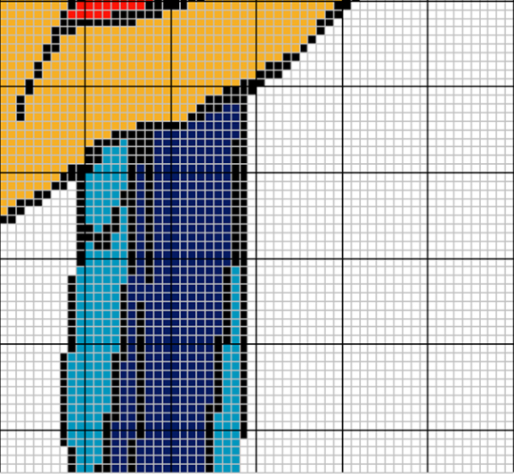 Шторка из бусин с попугаем. Схема (4) (577x532, 415Kb)
