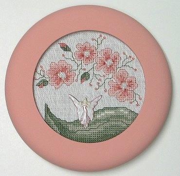 Круглая вышивка для круглой рамки