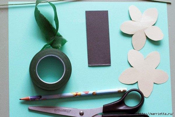 Весенние цветы из бумаги (6) (600x400, 115Kb)