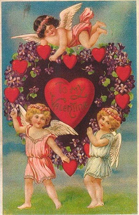70261056_victorianvalentinescardthreecherubspurpleflowershearts (453x700, 387Kb)