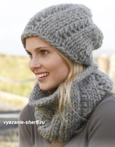 женские шарфы вязаные Вязание