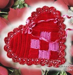 вязаные сердечки валентинки сердечки на день всех влюбленных святого Валентина как связать сердечко на день святого валентина, сзема вязания сердечек,как связать ажурное сердце, сердечко-салфетка,/4682845_vyazanoe_serdcesalfetka (250x257, 83Kb)