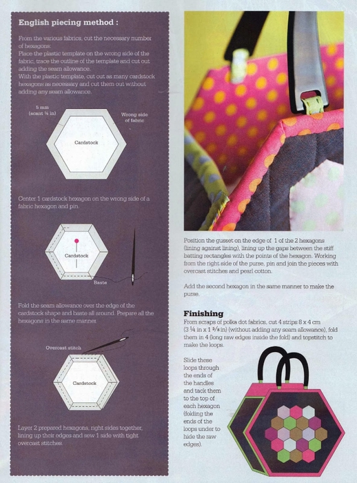Шестигранная сумка с аппликацией. Шьем сами (12) (518x700, 277Kb)
