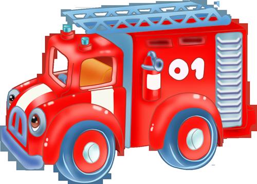 Пожарная машина - танк.