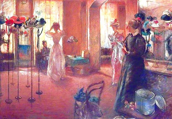 5Henry Tonks (English artist, 1862-1937) The Hat Shop (700x486, 87Kb)