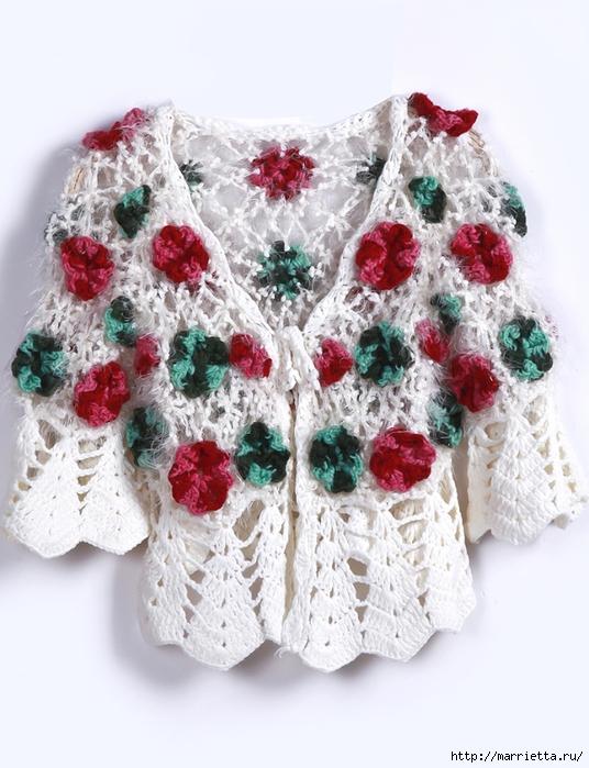 Роза на плече. Цветочная идея для вязаного пуловера (11) (536x700, 273Kb)