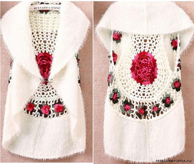 Роза на плече. Цветочная идея для вязаного пуловера (18) (645x548, 238Kb)