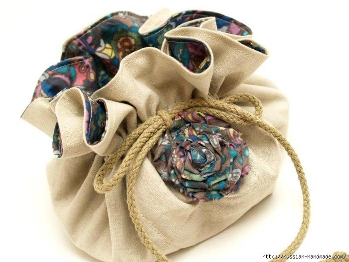 Как сшить сумочку-мешочек для бижутерии (11) (700x525, 225Kb)