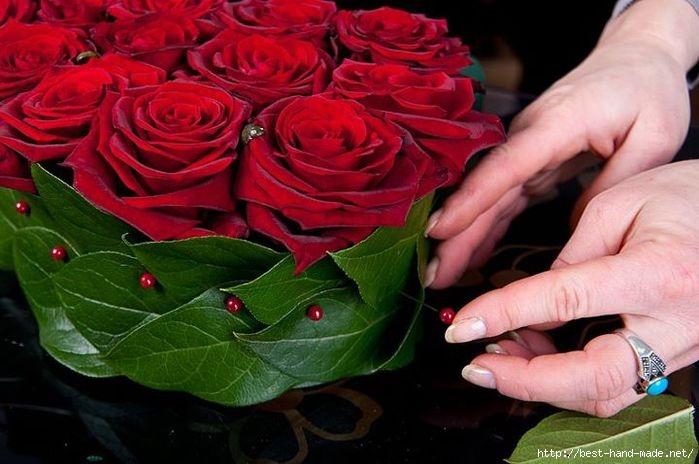 Букет цветов из роз своими руками
