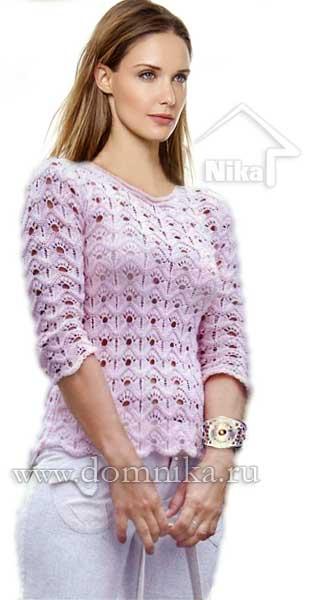 4108541_rozovyj_vjazanyj_pulover_spicami (312x600, 22Kb)