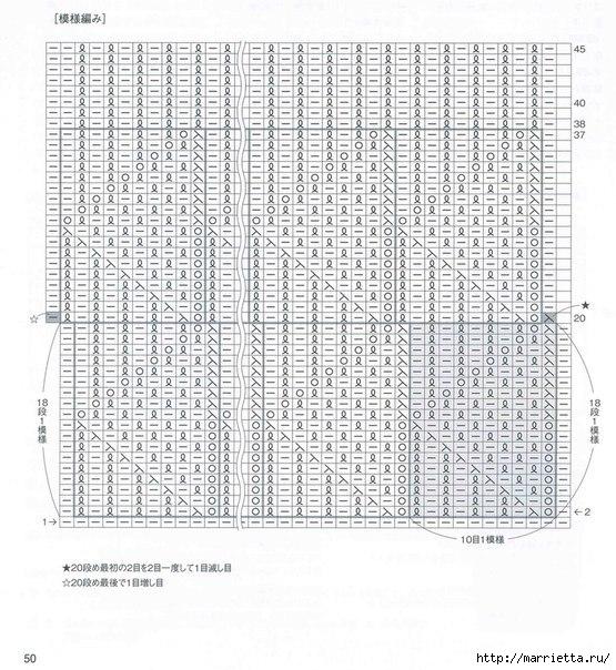Стильные ажурные митенки-напульсники спицами (1) (555x604, 255Kb)