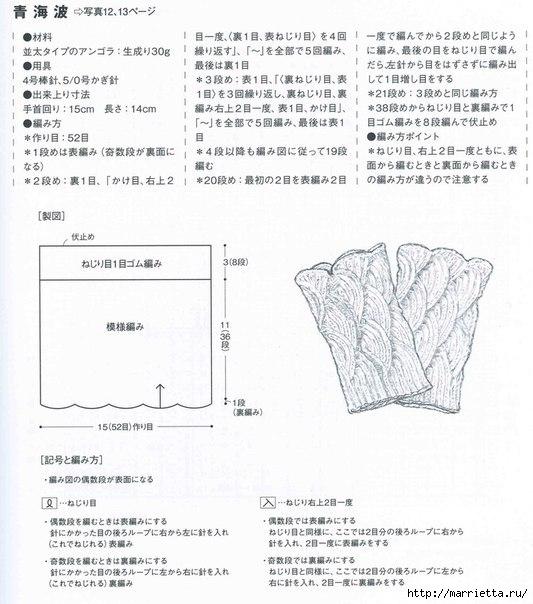 Стильные ажурные митенки-напульсники спицами (5) (533x604, 174Kb)