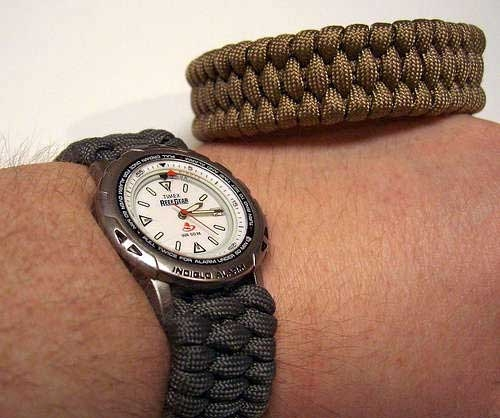 Подарок для брутального мужчины. Ремешок для часов или браслет выживания ПАРАКОРД (23) (500x418, 105Kb)