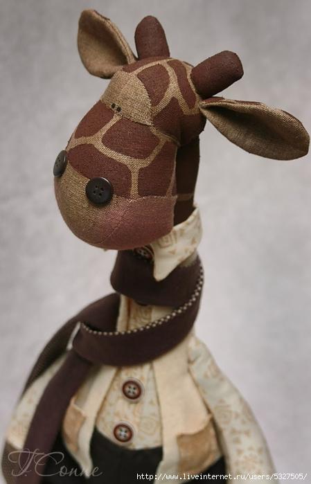 Выкройки игрушка жираф тильда