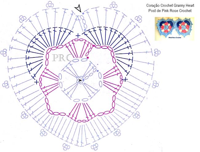 Сердечки крючком. Схема (1) (650x495, 241Kb)