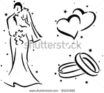 Превью stock-vector-wedding-stencil-featuring-a-couple-a-pair-of-rings-and-a-pair-of-hearts-65221660 (450x402, 72Kb)