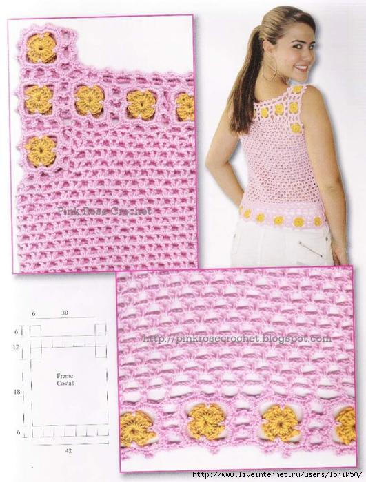 1 Bl R gr 1 Pink Rose (531x700, 296Kb)