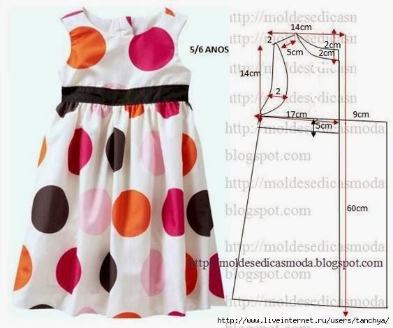 Выкройка платья на девочку 9