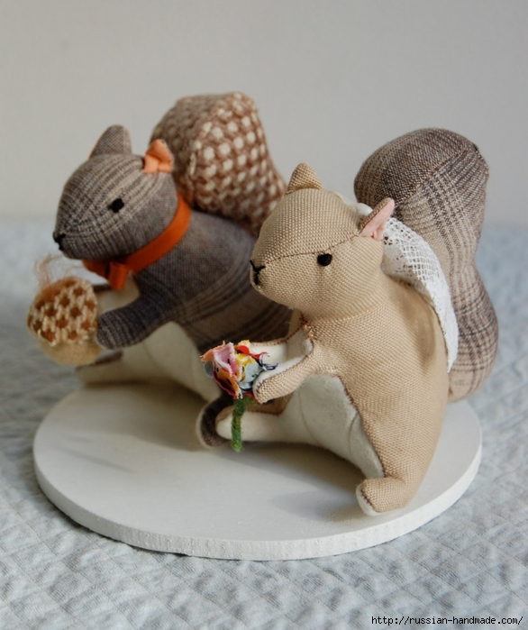 Выкройки игрушек. Белочка, улитка и совушки (1) (586x700, 255Kb)
