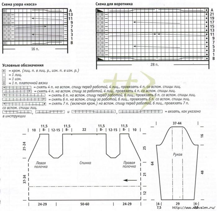 Кофта лало схема вязания 36