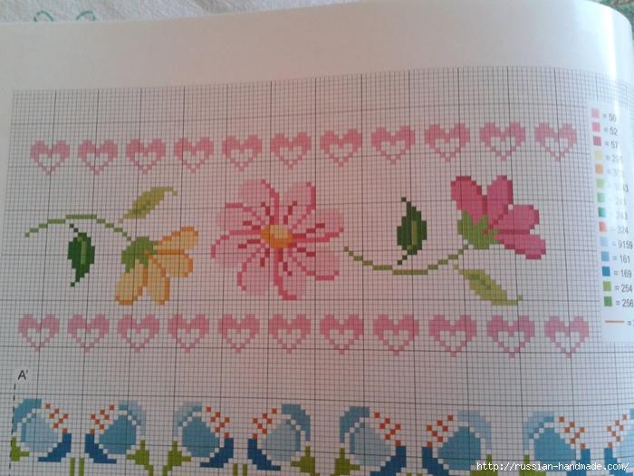 Схемы цветочной вышивки крестом для салфеток (3) (700x525, 274Kb)