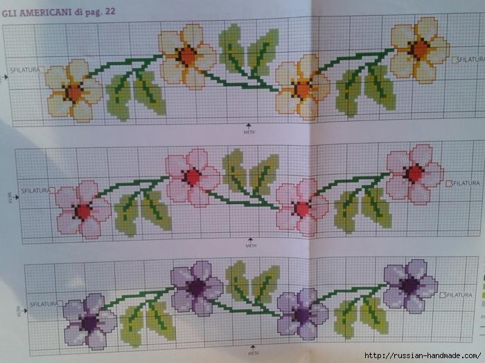Схемы цветочной вышивки крестом для салфеток (9) (700x525, 286Kb)