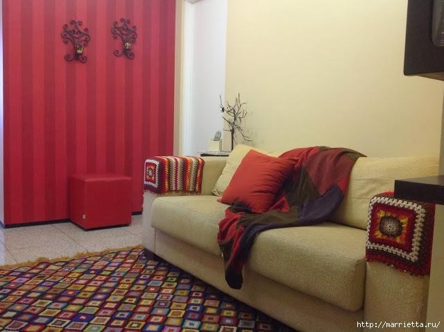 punto de ganchillo.  Reposabrazos para un sofá y sillones (2) (640x478, 174KB)