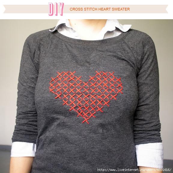 различных вышивки сердец.