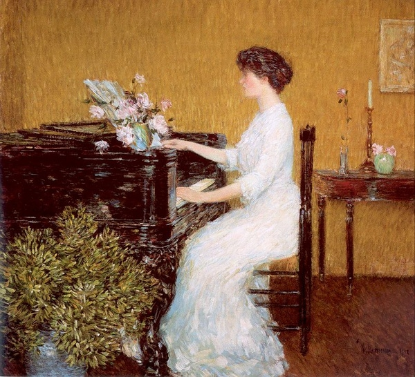 childe hassam At the Piano (600x546, 319Kb)
