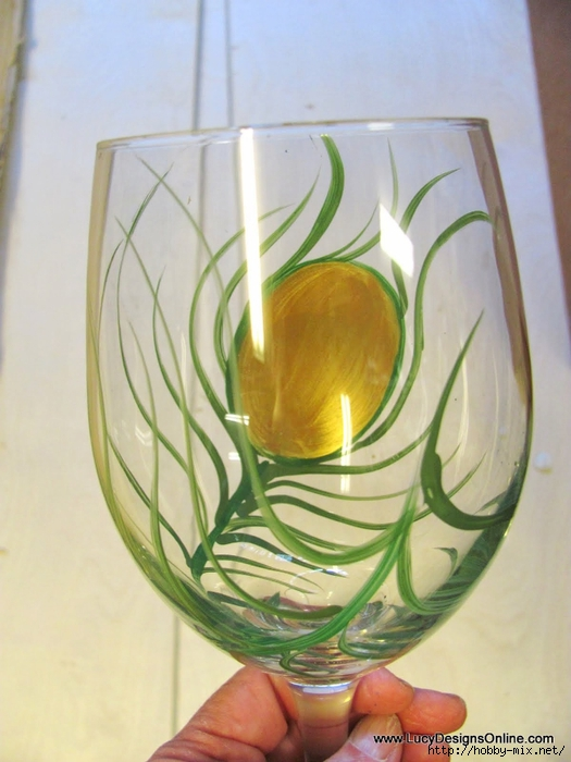 peacock wine glasses 013 (2) (525x700, 232Kb)