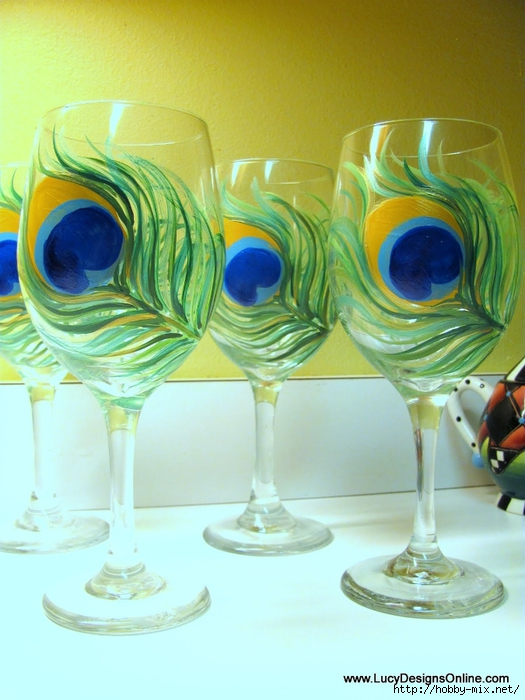 peacock wine glasses 034 (525x700, 255Kb)