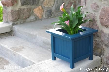 Деревянная кадка для цветов. Своими руками для сада (12) (450x300, 81Kb)