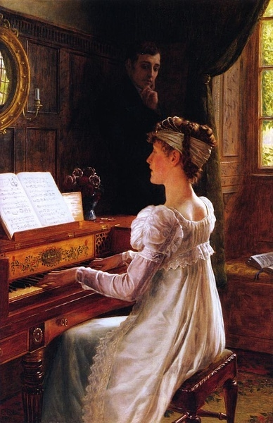 Эдмунд Блэр Лейтон. Ухаживание, 1903 (388x600, 186Kb)