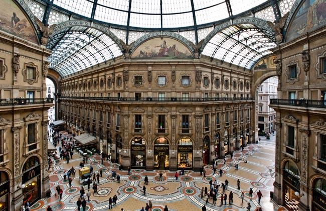 шопинг в милане торговые центры (650x420, 100Kb)