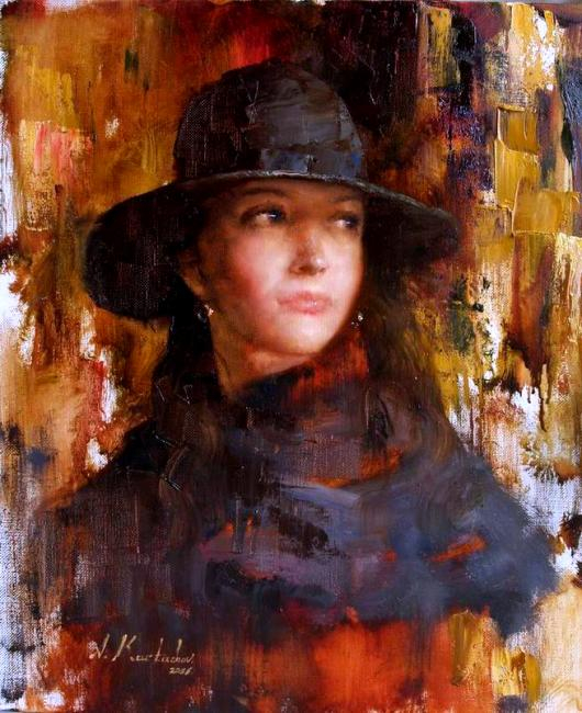 Карташов Андрей. Портрет Юлии в шляпе (530x650, 341Kb)