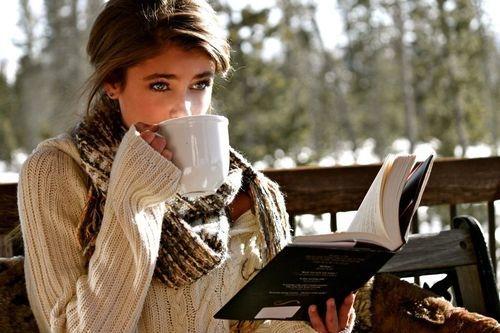 кофе девушка кафе (500x333, 116Kb)
