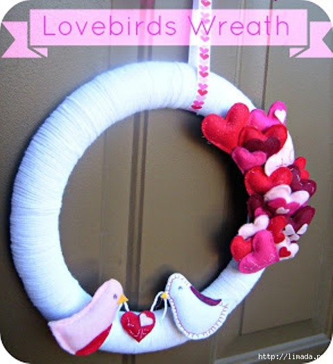 Lovebirds Wreath (480x524, 138Kb)