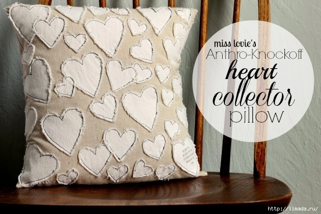 14 Anthropologie Heart Pillow- Knock Off-cover (1) (650x433, 191Kb)