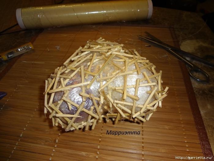 Моя золотая Валентинка. Пустотелое сердце из шашлычных палочек (8) (700x525, 275Kb)