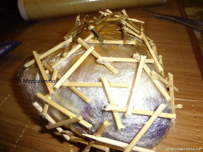 Моя золотая Валентинка. Пустотелое сердце из шашлычных палочек (12) (700x525, 295Kb)
