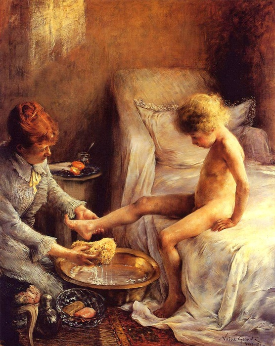 Norbert_Gœneutte_-_Reine_Goeneutte_Washing_the_Young_Jean_Guerard_in_the_Artist's_Studio (2) (556x700, 181Kb)