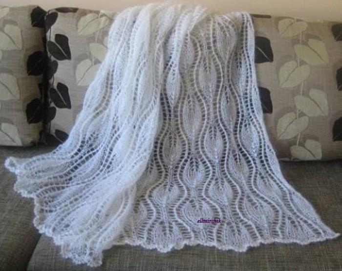 Вязание накидки или палантина 434