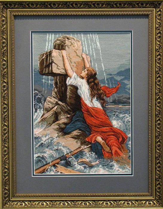 Любовь и вера вышивка 637