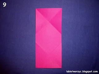 Сердечки-валентинки оригами из бумаги для украшения подарка (9) (320x240, 44Kb)