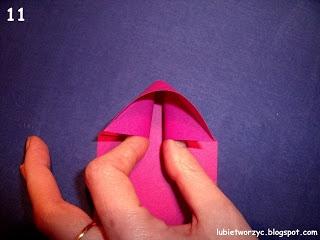 Сердечки-валентинки оригами из бумаги для украшения подарка (11) (320x240, 51Kb)