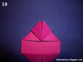 Сердечки-валентинки оригами из бумаги для украшения подарка (19) (320x240, 48Kb)
